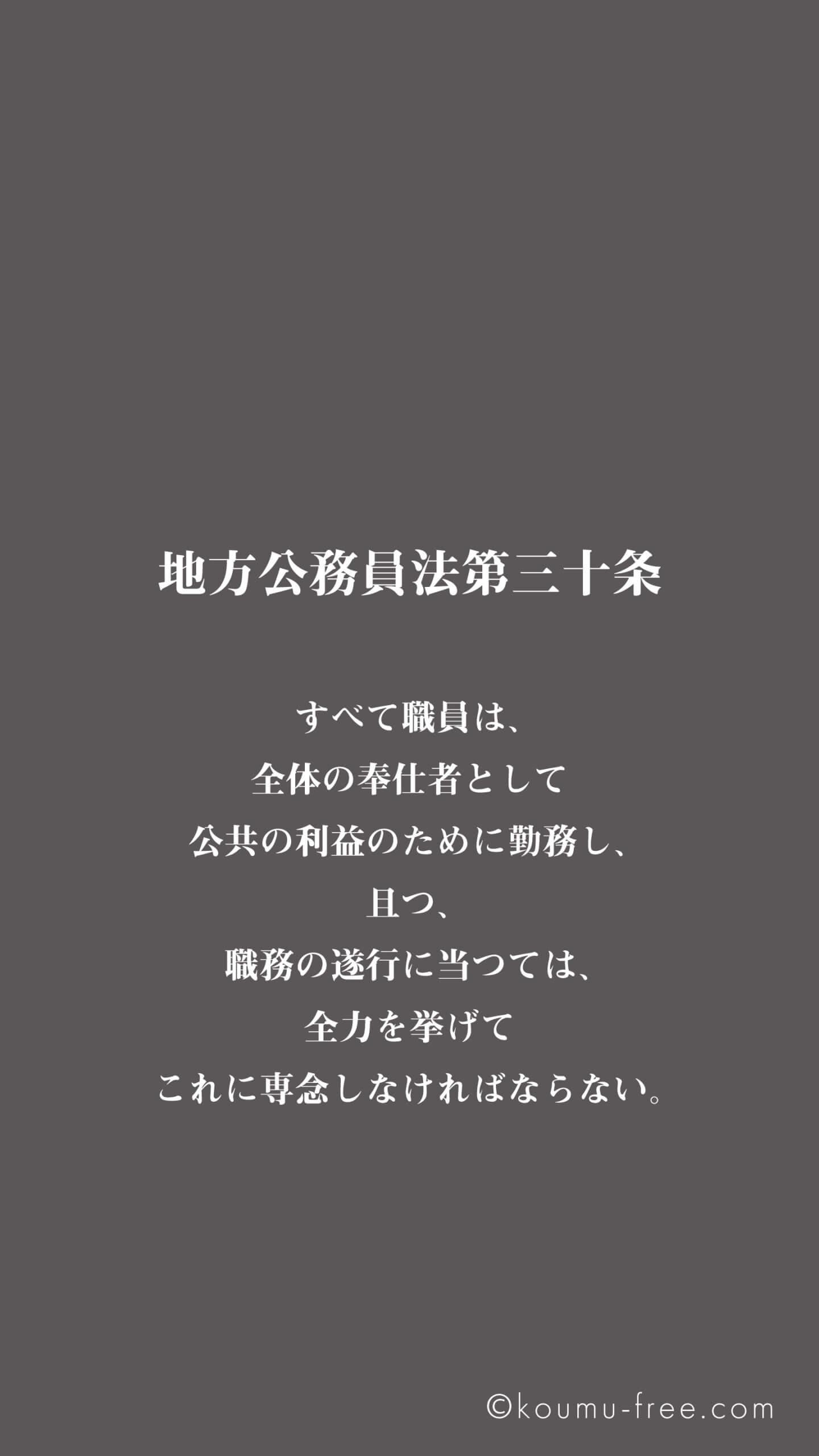 公務員壁紙・待ち受け画像(地方公務員法)